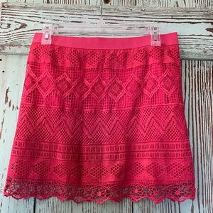 American eagle 🦅 pink lace skirt. Size 8